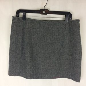 Old Navy Herringbone Wool Mini Skirt